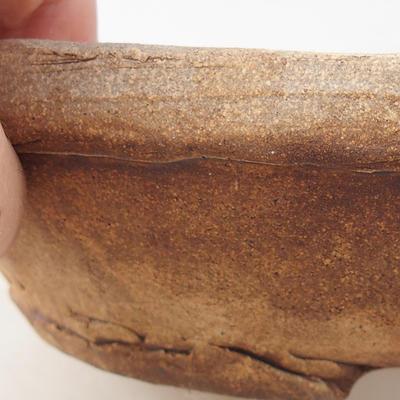 Keramik Bonsai Schüssel 16 x 16 x 5 cm, graue Farbe - 2. Qualität - 2