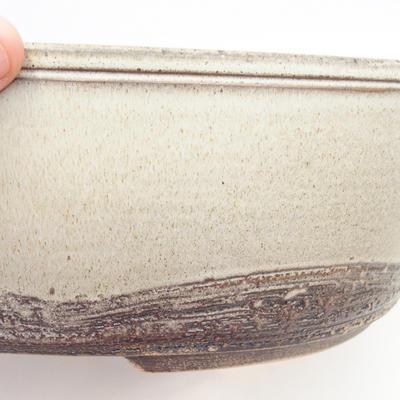 Bonsai-Schale 36 x 27,5 x 10 cm, grau-beige Farbe - 2