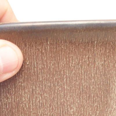 Bonsai-Schale 11 x 11 x 11,5 cm, Farbe braun - 2