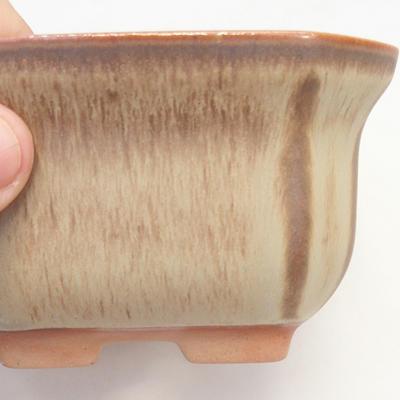 Bonsai-Schale 11 x 11 x 6,5 cm, Farbe braun-beige - 2