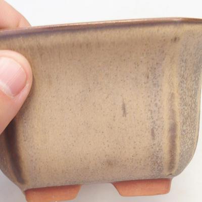 Bonsai-Schale 12 x 12 x 7 cm, braun-beige Farbe - 2