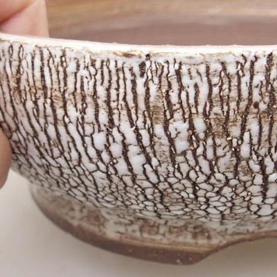 Keramische Bonsai-Schale 16,5 x 16,5 x 6 cm, weiße Farbe - 2