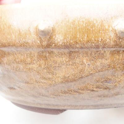 Keramische Bonsai-Schale 19,5 x 19,5 x 7,5 cm, braune Farbe - 2