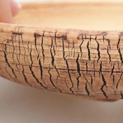 Keramische Bonsai-Schale 14,5 x 14,5 x 3 cm, rissige Farbe - 2