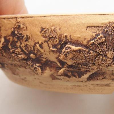 Keramik Bonsai Schüssel 15 x 15 x 3 cm, Farbe rissig - 2