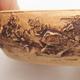 Keramik Bonsai Schüssel 15 x 15 x 3 cm, Farbe rissig - 2/4