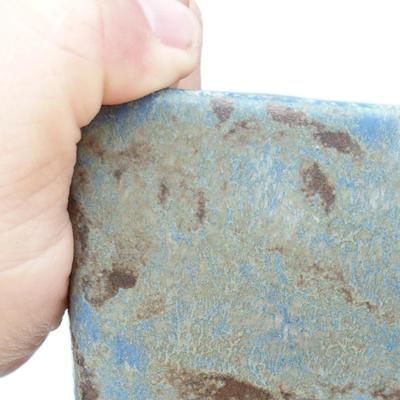Bonsaischale aus Keramik 2. Wahl - 15 x 15 x 19 cm, Farbe braun-blau - 2