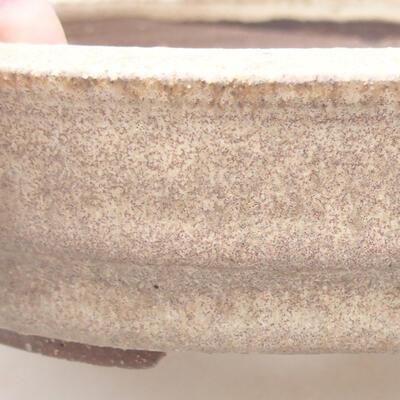 Bonsai-Keramikschale 18 x 18 x 4,5 cm, beige Farbe - 2