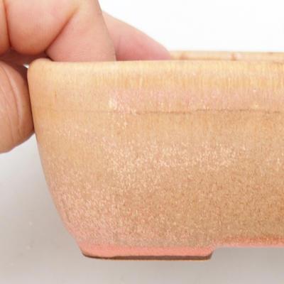 Bonsaischale aus Keramik 2. Wahl - 16 x 10 x 5,5 cm, Farbe braun-pink - 2