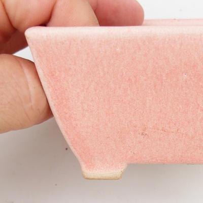 Keramik Bonsai Schüssel 2. Wahl - 9 x 9 x 5,5 cm, rosa Farbe - 2