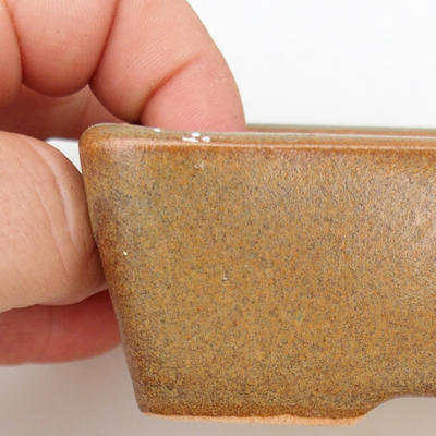 Keramik Bonsaischale 2. Wahl - 12 x 9 x 3,5 cm, Farbe grau - 2