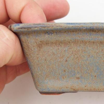 Bonsaischale aus Keramik 2. Wahl - 12 x 8 x 4 cm, Farbe braun-blau - 2
