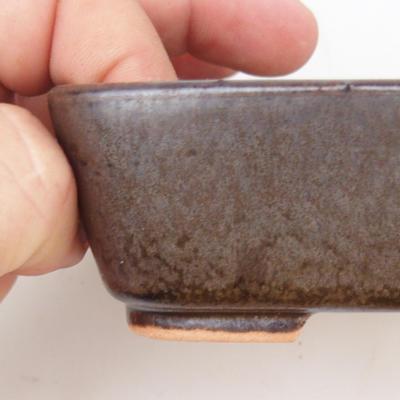 Keramik Bonsai Schüssel 2. Wahl - 12 x 10 x 4 cm, braune Farbe - 2