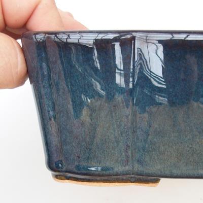 Bonsaischale aus Keramik 2. Wahl - 20 x 17 x 7 cm, Farbe braun-blau - 2