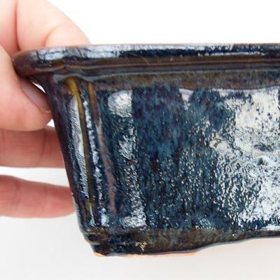 Bonsaischale aus Keramik 2. Wahl - 17,5 x 13 x 6 cm, Farbe braun-blau - 2