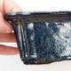 Bonsaischale aus Keramik 2. Wahl - 17,5 x 13 x 6 cm, Farbe braun-blau - 2/4