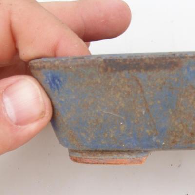 Bonsaischale aus Keramik 2. Wahl - 12 x 10 x 4 cm, Farbe braun-blau - 2