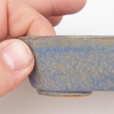 Bonsaischale aus Keramik 2. Wahl - 12 x 9 x 3 cm, Farbe braun-blau - 2