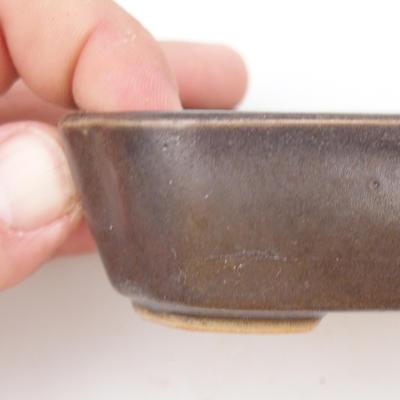 Keramik Bonsai Schüssel 2. Wahl - 12 x 9 x 3 cm, braune Farbe - 2