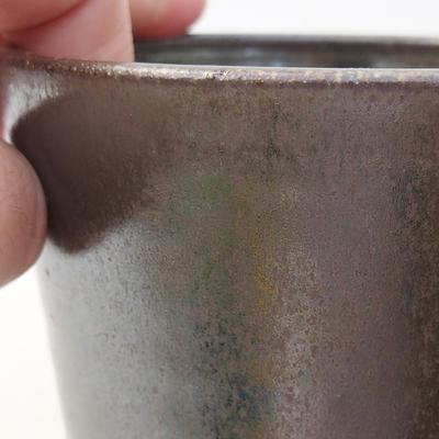 Keramische Bonsai-Schale 10 x 10 x 8,5 cm, Farbe grün - 2