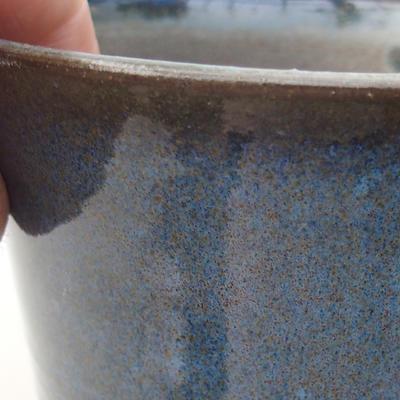 Keramische Bonsai-Schale 10 x 10 x 8,5 cm, Farbe blau - 2