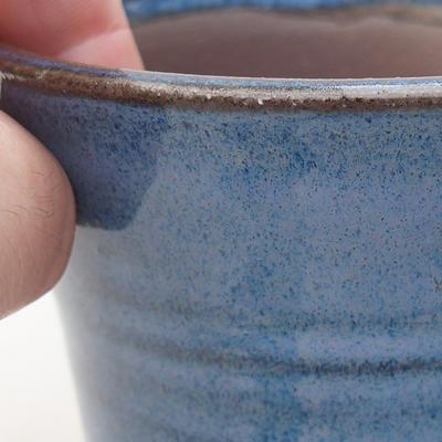 Keramische Bonsai-Schale 9 x 9 x 7,5 cm, Farbe blau - 2