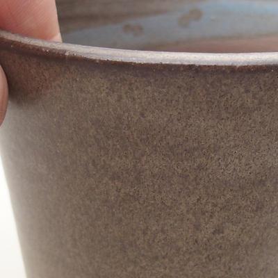 Keramische Bonsai-Schale 9,5 x 9,5 x 8 cm, graue Farbe - 2