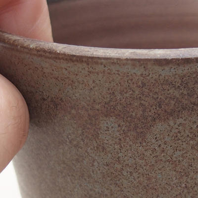 Keramische Bonsai-Schale 9,5 x 9,5 x 9 cm, graue Farbe - 2