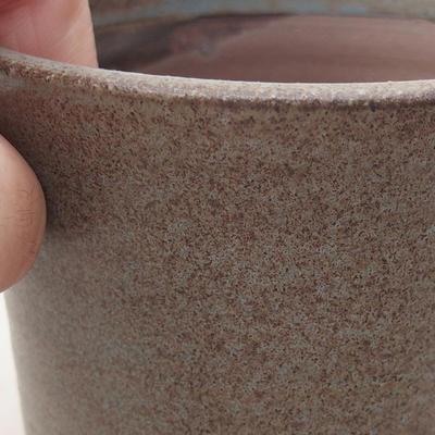 Keramische Bonsai-Schale 9 x 9 x 7 cm, Farbe grau - 2