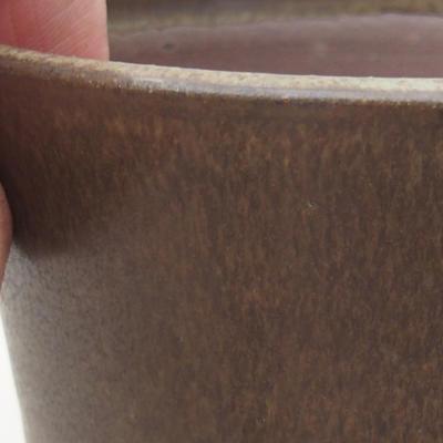 Keramik Bonsai Schüssel 10 x 10 x 9 cm, Farbe braun - 2