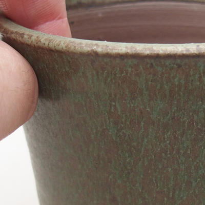 Keramische Bonsai-Schale 9 x 9 x 8,5 cm, Farbe grün - 2