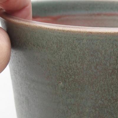 Keramik Bonsai Schüssel 14 x 14 x 16 cm, Farbe grün - 2