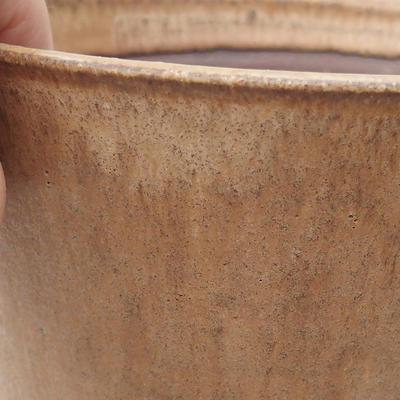 Bonsai-Keramikschale 15 x 15 x 16 cm, Farbe beige - 2