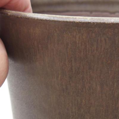 Keramische Bonsai-Schale 13 x 13 x 16,5 cm, braune Farbe - 2