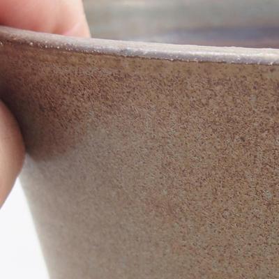 Keramik Bonsai Schüssel 15 x 15 x 16 cm, Farbe braun - 2