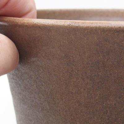 Keramische Bonsai-Schale 16 x 16 x 16 cm, Farbe braun - 2