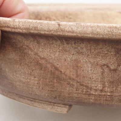 Keramische Bonsai-Schale 28 x 25 x 6 cm, Farbe braun - 2