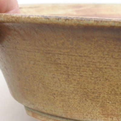 Keramische Bonsai-Schale 26,5 x 21,5 x 6 cm, Farbe grün - 2