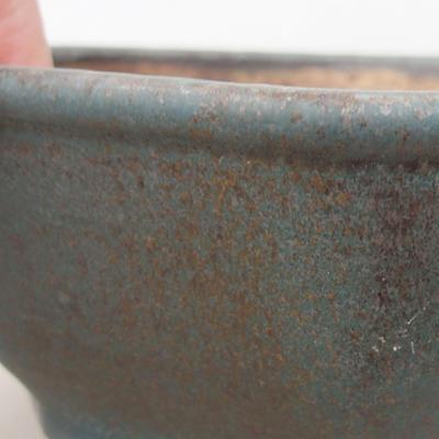 Keramische Bonsai-Schale 15,5 x 15,5 x 6,5 cm, Farbe grün - 2