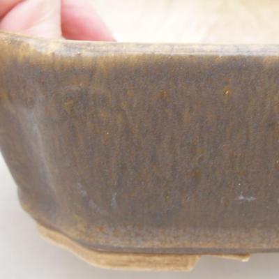 Keramische Bonsai-Schale 20 x 17 x 5,5 cm, braune Farbe - 2