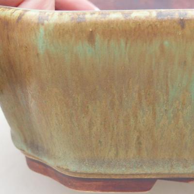 Keramische Bonsai-Schale 20 x 17 x 5,5 cm, Farbe grün - 2