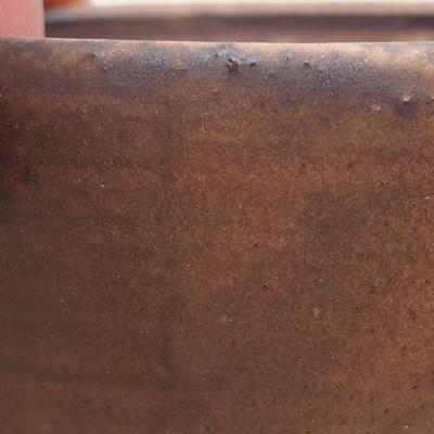 Keramische Bonsai-Schale 7,5 x 6,5 x 3,5 cm, braune Farbe - 2