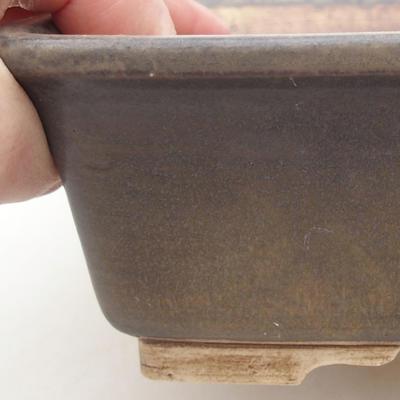 Keramische Bonsai-Schale 20,5 x 16,5 x 6,5 cm, braune Farbe - 2