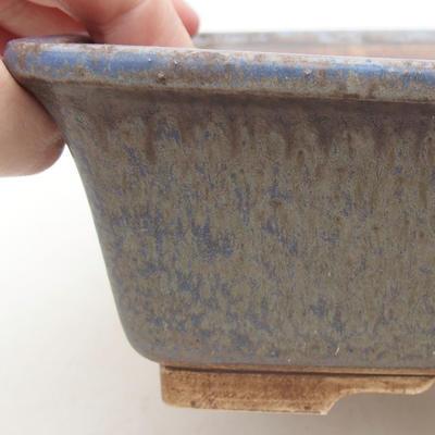 Keramische Bonsai-Schale 20,5 x 16,5 x 6,5 cm, Farbe blau - 2