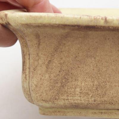 Keramische Bonsai-Schale 20,5 x 16,5 x 6,5 cm, gelbe Farbe - 2
