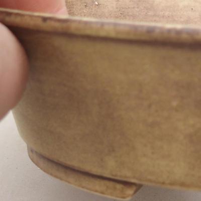 Keramische Bonsai-Schale 14 x 12 x 3,5 cm, Farbe gelb - 2