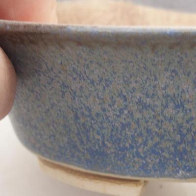 Keramische Bonsai-Schale 14 x 12 x 3,5 cm, Farbe blau - 2