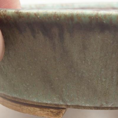 Keramische Bonsai-Schale 14 x 12 x 3,5 cm, Farbe grün - 2