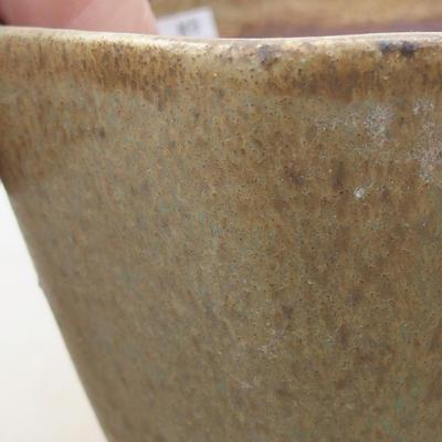 Keramische Bonsai-Schale 8,5 x 8,5 x 5,5 cm, Farbe grün - 2