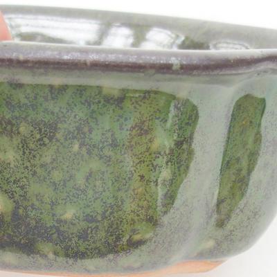 Keramische Bonsai-Schale 13,5 x 11,5 x 6 cm, Farbe grün - 2